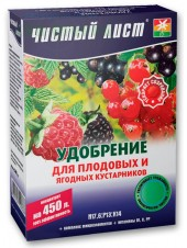Чистый лист кристаллическое удобрение для плодовых и ягодных кустарников, 300 г