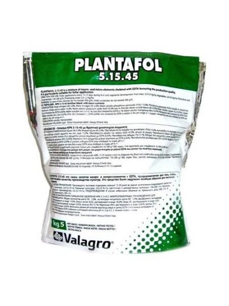 Плантафол 5.15.45 - водорастворимое комплексное удобрение для листовой подкормки, 1 кг, Valagro Италия